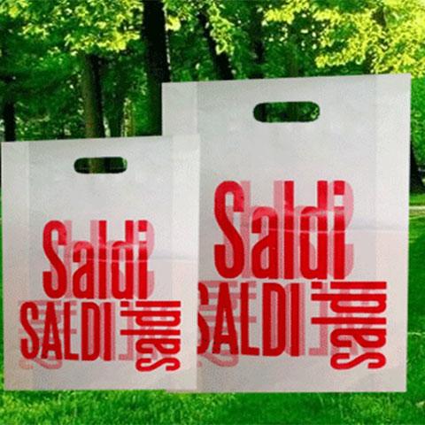 Shopper in Plastica Manico Fagiolo Colore Trasparente