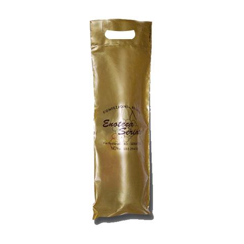 Shopper Plastica Portabottiglie - Fondo Oro