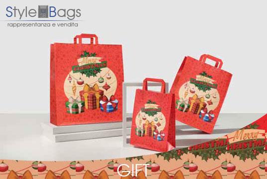 Shopper in Carta Maniglia Piatta Gift