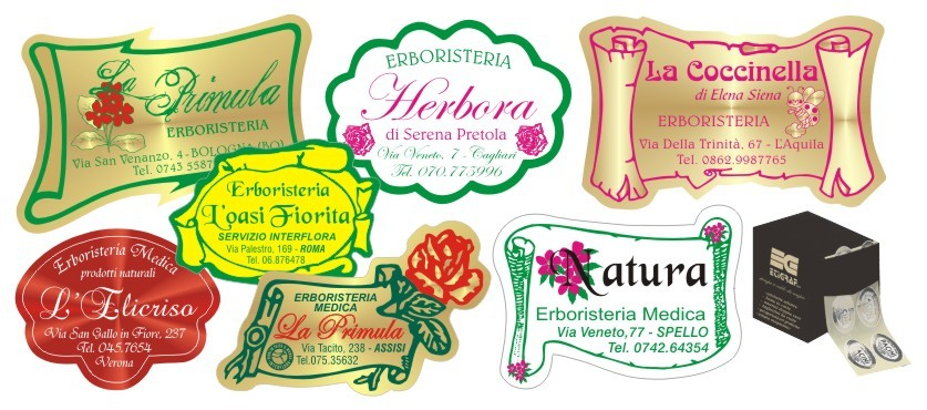 Etichette Adesive Personalizzate Stampa a Caldo