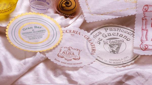 Sottogelati Bordo Smerlato in Carta Vegetale Personalizzati Colore Bianco