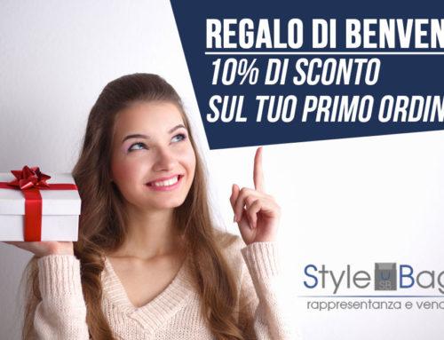 Regalo di Benvenuto: 10% di Sconto sul tuo primo ordine!