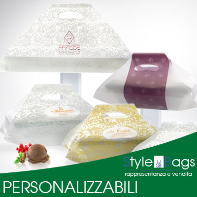 Buste Porta Vaschette Gelato Personalizzabili