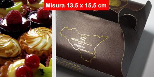 Scatola Porta Pasticcini (Piccola Pasticceria) Personalizzata con Stampa a Caldo su 2 Lati – Bassi Quantitativi